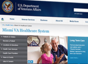 Screen capture of a VA website